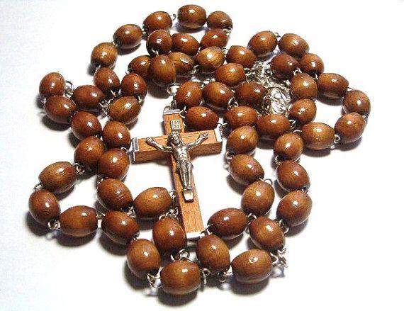 Vintage Wood Rosary Beads , $30