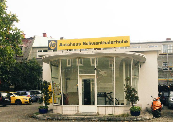 Autohaus in der Ligsalzstraße. Auch als Ausstellungsort heiß begehrt!