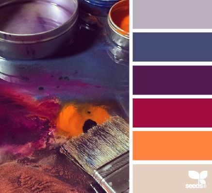 painterly hues #color #palette #designseeds #design #seeds #seedscolor #red #orange #purple #violet