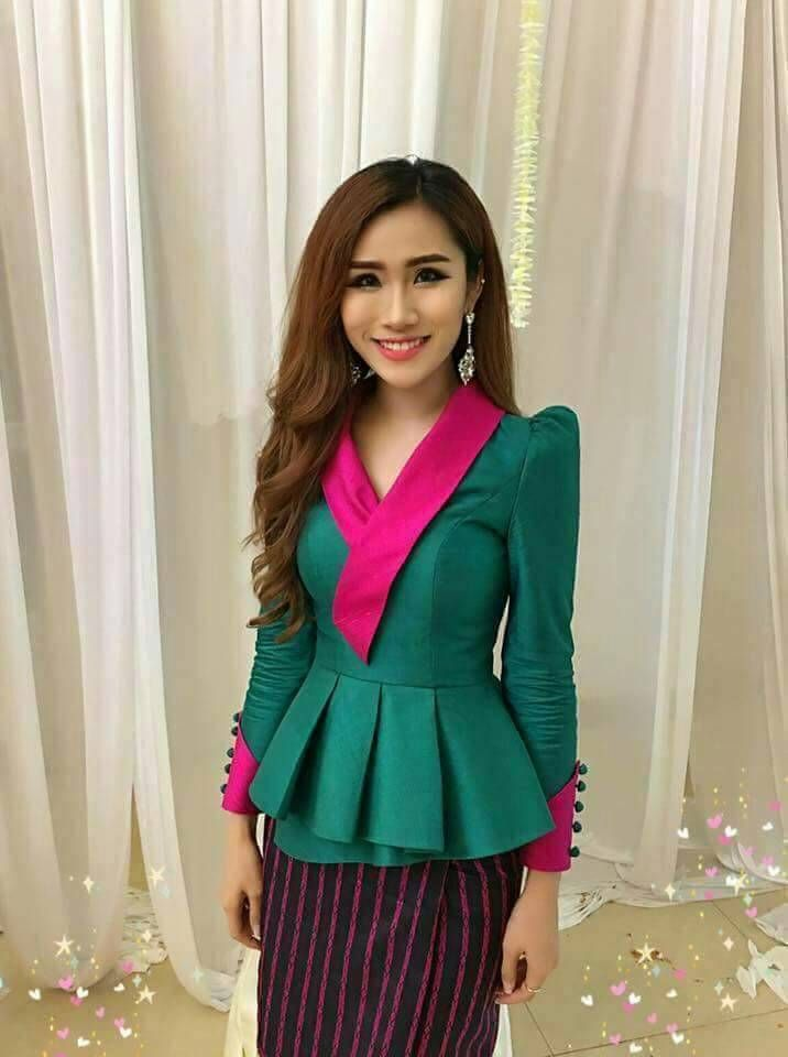Laos Thai Traditional Synthetic Silk Top blouse Outfits any color available TH3 | Clothing, Shoes & Accessories, Women's Clothing, Tops & Blouses | eBay!