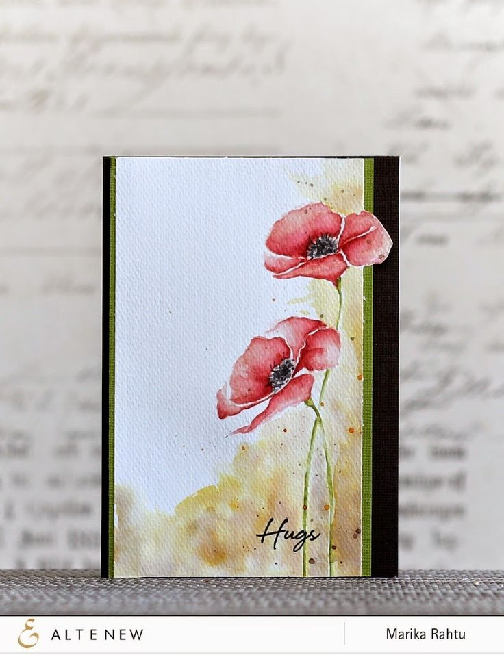 Me and Minime crafting: A watercoloured Poppy