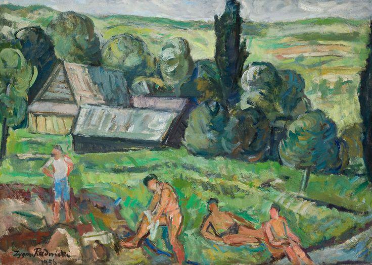 Zygmunt Radnicki, Motyw z Czarnej Góry, 1956, własność: MNK
