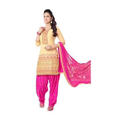 Buy Decent Wears Yelllow Cotton Dress Material by Decent Wears, on Paytm, Price: Rs.1150