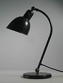 Schreibtischleuchte von Christian Dell Bauhaus, ca 1929/1930 für Belmag, Zürich  Pultlampe Dell swiss industrial design Industriedesign vintage lamp retrodesign.ch
