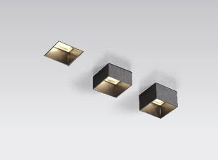 """XAL Move It, 1 3/4"""" square recessed trimless fixture. Aperture can be manually adjusted to 3 different positions to achieve a fully recessed, semi recessed and surface mounted look. #lightfair"""