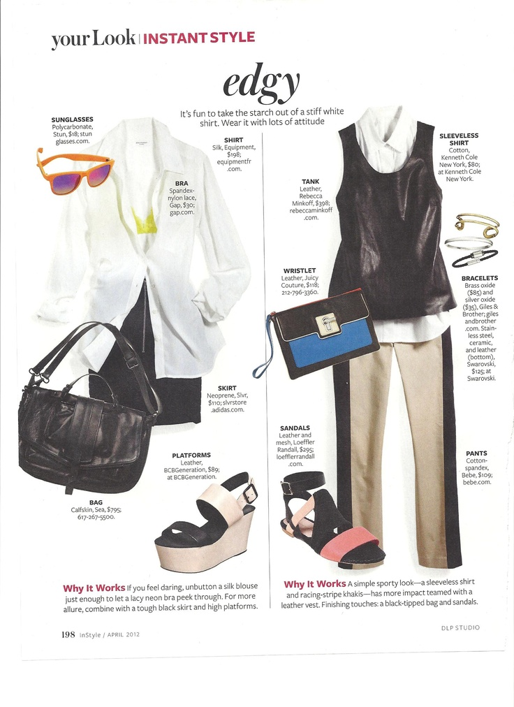 Edgy Instant Style Instyle Magazine Instant Style Pinterest Wardrobes Travel Capsule And