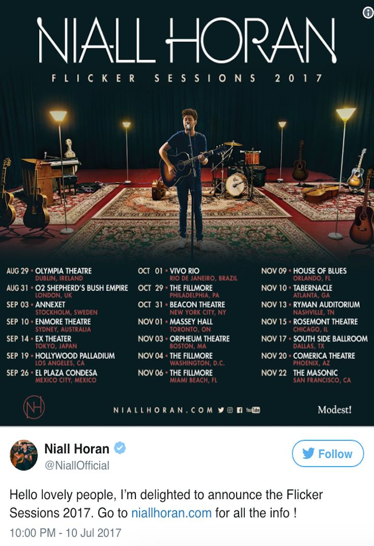 Niall Horan Announces Intimate First Tour — See Dates