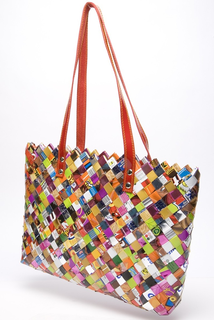 Nahui Ollin Candy Wrapper Bags... awesome!!