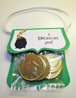 St. Patrick's Day candy purse