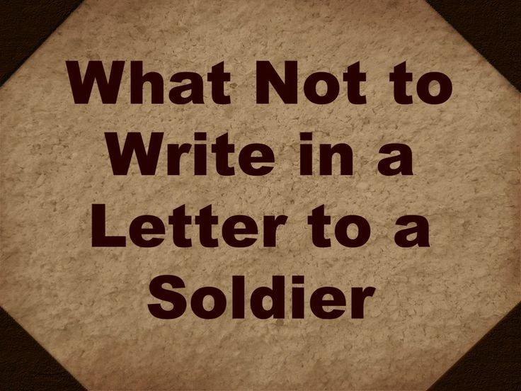 Ask An Army Spouse: Basic Training Letters & Communication
