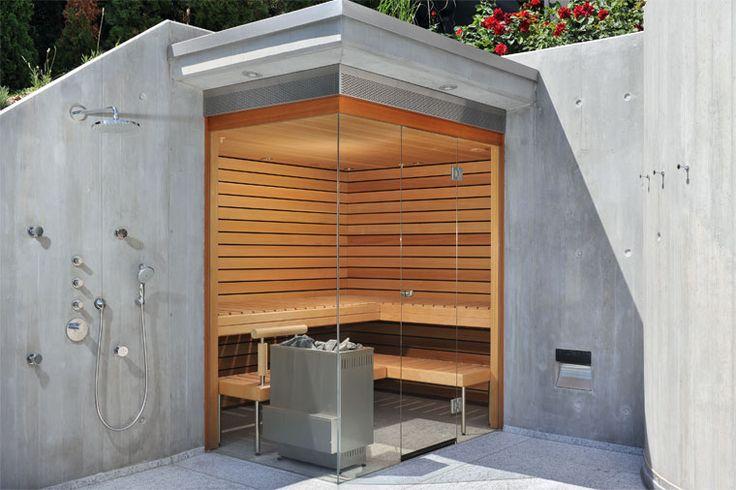 Aussensauna, Sichtbeton, Küng Sauna