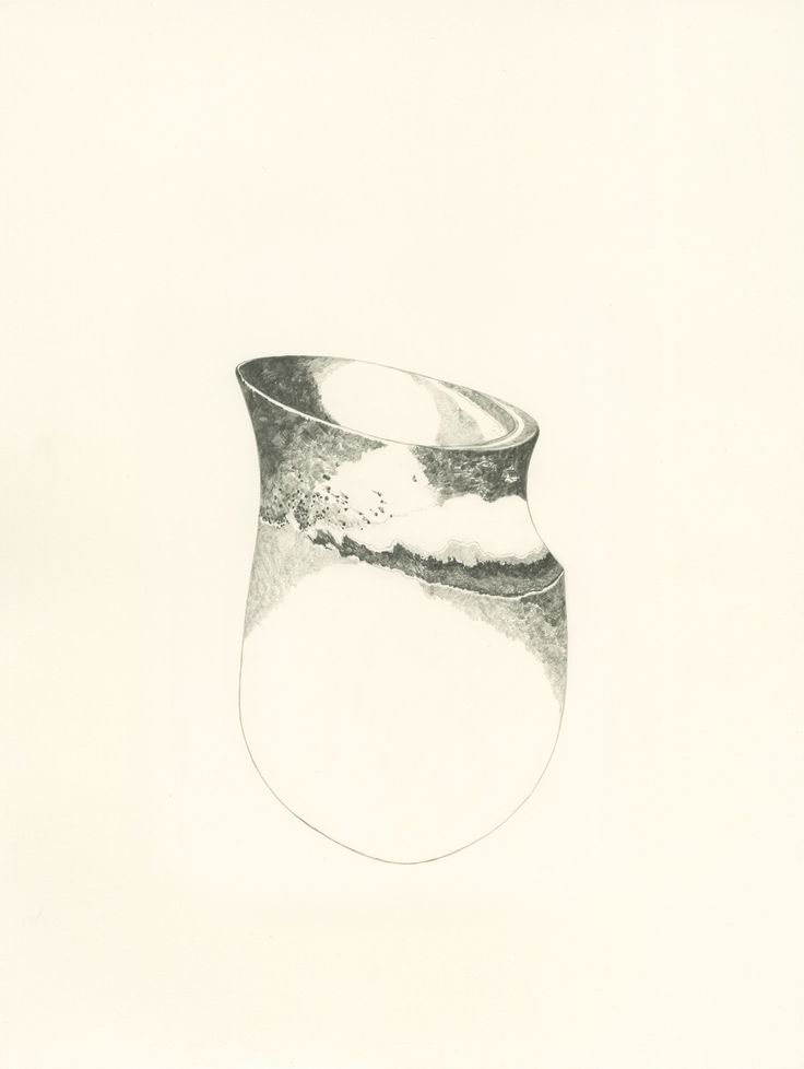 Jennifer Lee drawing, JL847, 2013 Pencil on paper, 50 cm (h) #jenniferleeceramics #drawing