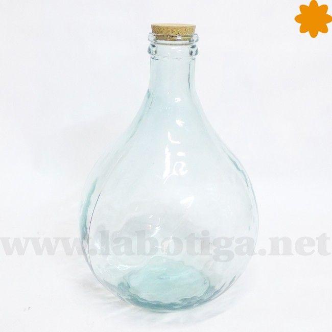 Garrafa de cristal con cuello estrecho capacidad de 13 litros