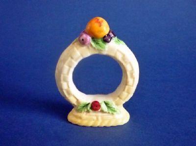 Carlton Ware Yellow 'Fruit Basket' Napkin Ring c1935