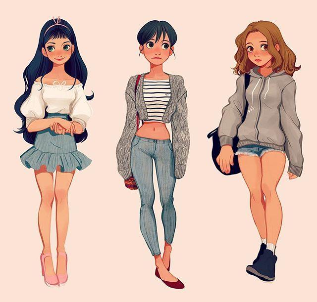 #streetstyle #character #design #digitalart #girls
