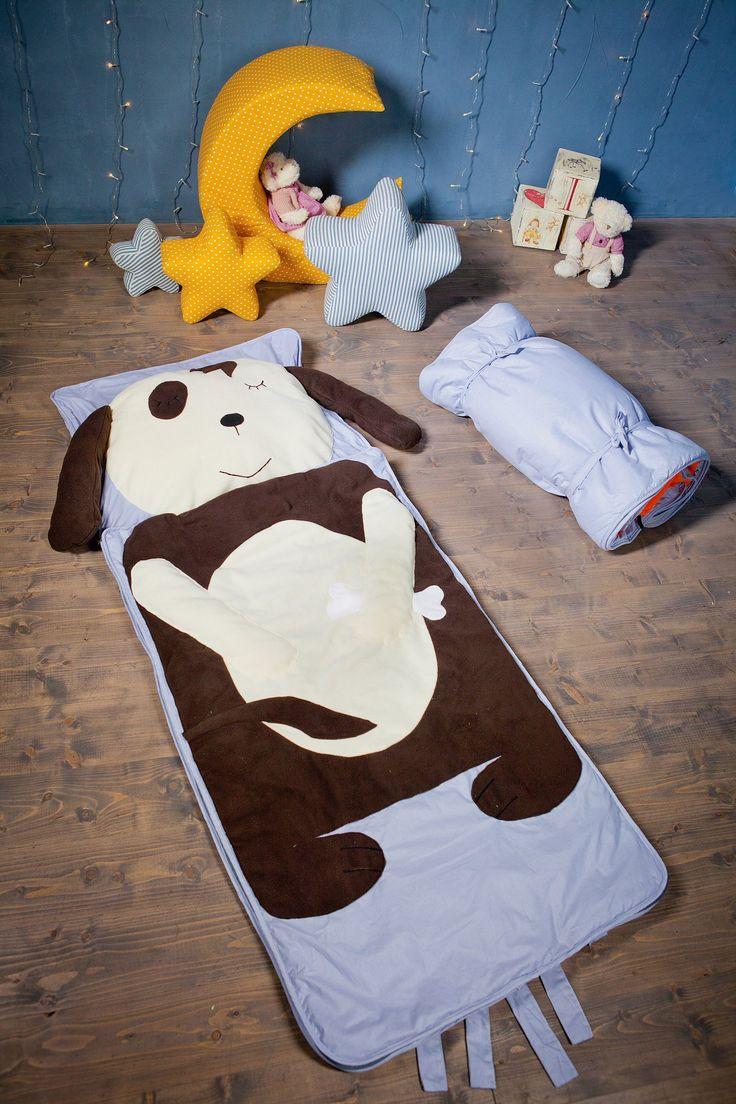 Dog Fox Nap Mat For Children Sleep Kids Sleeping Bag Boys Napmat