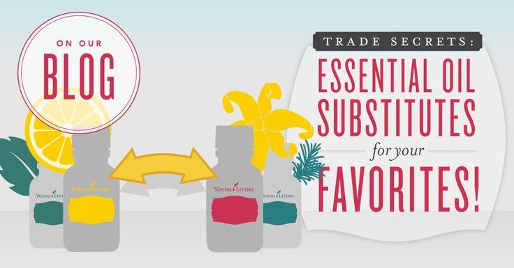 Trade secrets: Essential oil substitutes for your favorites!