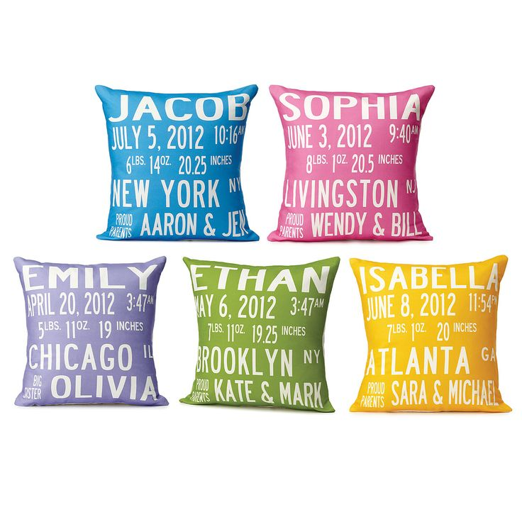 73 best personalized baby gifts images on pinterest personalized birth announcement pillows unique baby shower giftsbirth announcementsbirthspersonalized negle Gallery