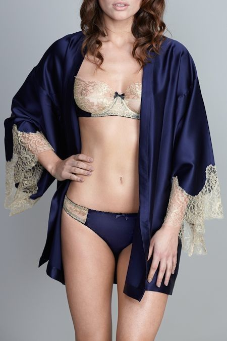20 Pretty Robes to Snuggle Up In Glamsugar.com Kimono Robe with lingerie