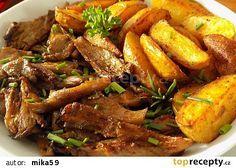 Nové brambory pečené s hlívou recept - TopRecepty.cz........ https://www.toprecepty.cz/recept/52592-nove-brambory-pecene-s-hlivou/