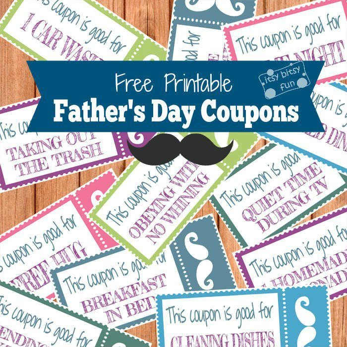 Free Printable Father's Day Coupons