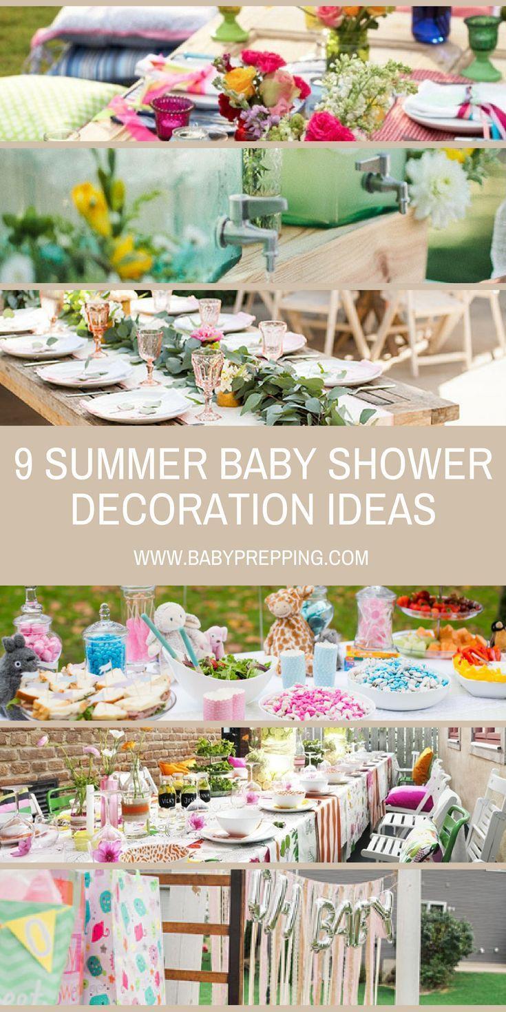 Summer Inspired Outdoor Baby Shower Decoration Ideas Baby Shower Drinks Outdoor Baby Shower Outdoor Baby Shower Decorations