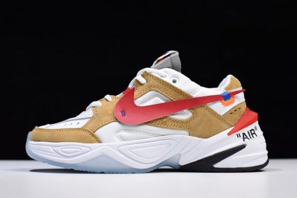 the best attitude b5d42 b514c 2018 Off-White x NIKE M2K Tekno White Wheat-Red AO3108-200