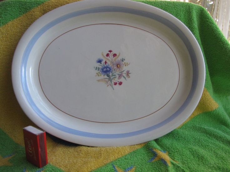 Finland ARABIA Large Big dish plate flower Decor Kitchen Handmade 13 inches #Arabia