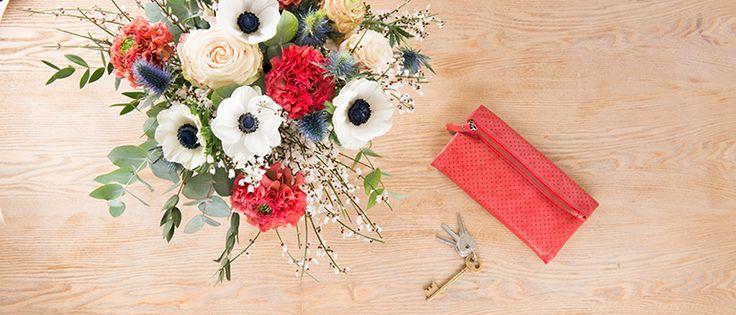 Monsieur Confettis Bouquet du 15/03/2017 - Monsieur Marguerite  (Rose Avantique, Renoncule Pompom Minerva, Anémone, Genêt, Chardon, Eucalyptus Cinéréa.)