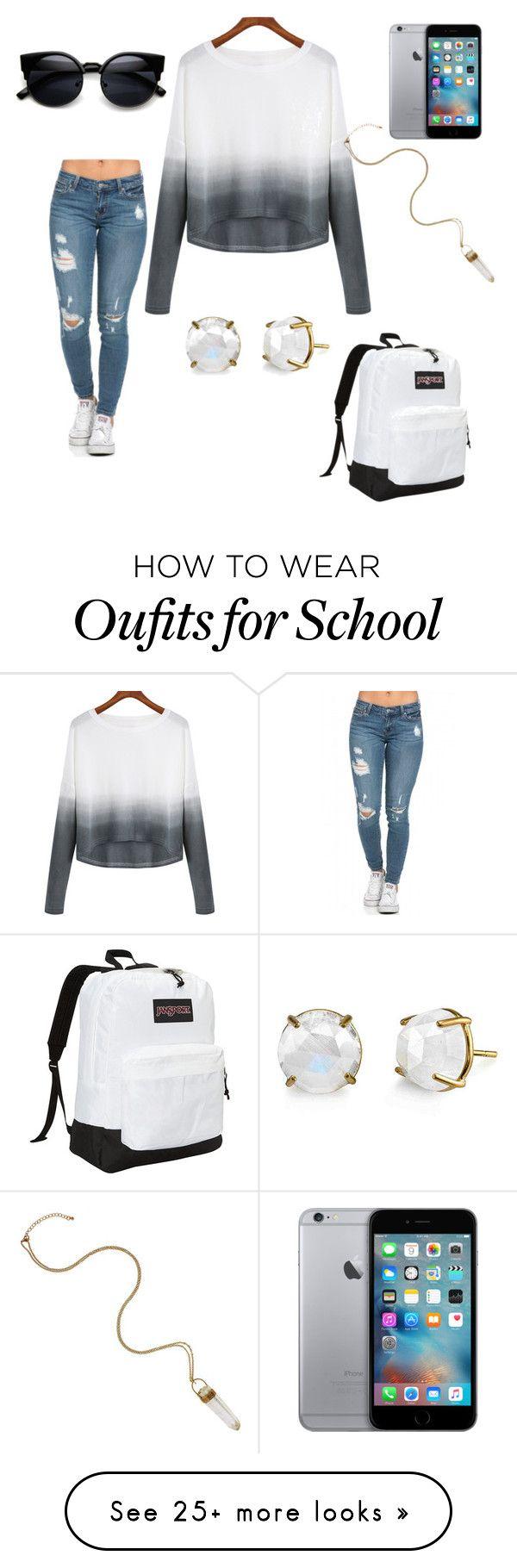 """school"" by jordyred on Polyvore featuring JanSport, women's clothing, women, female, woman, misses and juniors"