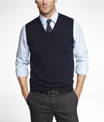 Various hints of blue look great on any man. #sweatervest #professionalatire #infinityconceptslouisville