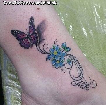 Tatuaje De Mariposas Tobillo Flores Zonatattoos Com Mariposa Tatuaje Disenos De Tatuaje De Flores Tatuaje Brazo Flores