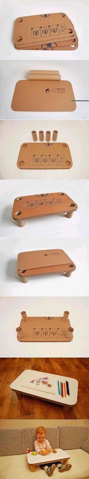 Diy Make a Children Cardboard Table