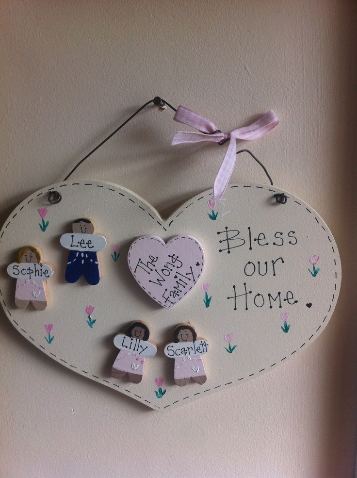 Family bless our home plaque
