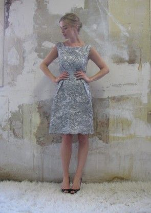 Silver dress moschino 25th wedding anniversary pinterest for Dress for 25th wedding anniversary