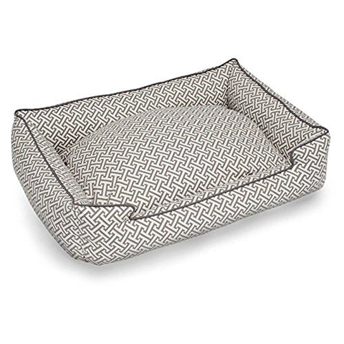 Hera Grey Everyday Lounge Bolster Dog Bed Size Medium  Large 39 L x 32 W Color Grey -- Click on the image for additional details.