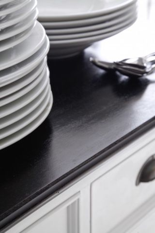 It's in the detail Where to begin? Every piece within the Halifax Contrast collection has a classic silhouette which features a moulded plinth at its base and flared cornice on top. The antiqued hardware is in the form of traditional cup handle. And then there's the period-style panelling and bevelled drawer fronts.