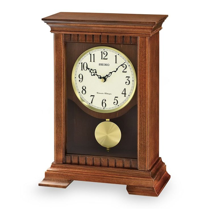 Seiko Traditional Classics Wood Musical Pendulum Mantel Clock - QXQ029BLH, Brown