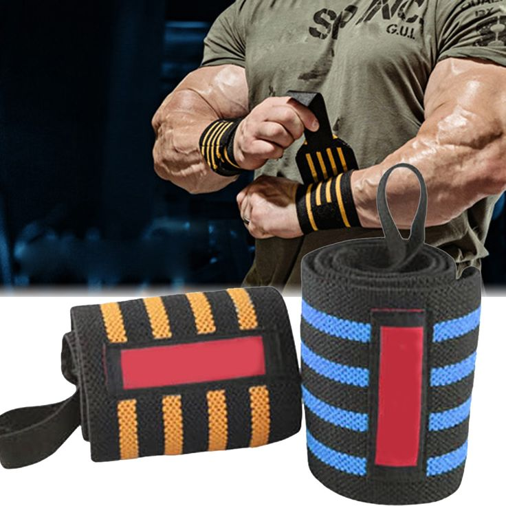 2 pcs/Set Adjustable Wristband Wrist Brace Wrist Olahraga Elastis Wrap Perban Tali Pergelangan Tangan Olahraga Keselamatan Gym Crossfit Wrap