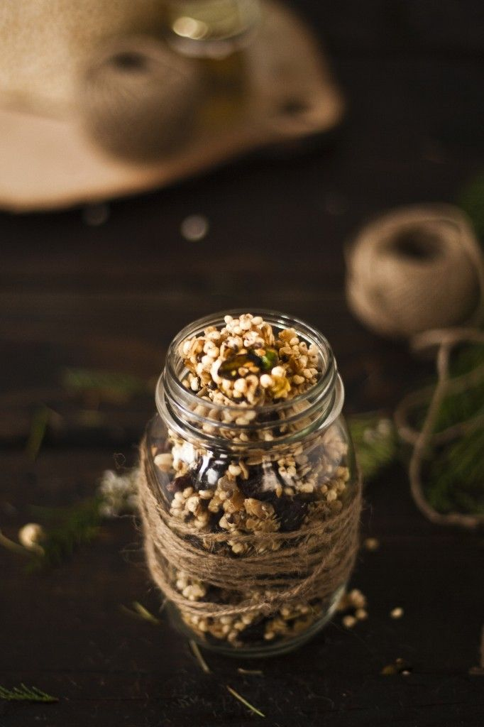 Puffed Millet, oats, Pistachio, and Pepita Granola