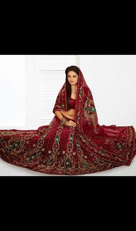 Maroon Embroidered Net Lehenga Choli Price: Usa Dollar $272, British UK Pound £159, Euro201, Canada CA$ 292, Indian Rs14688.