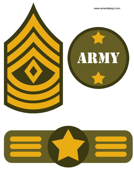 Instant Download Army Military Camo America by AmandaKPrintables