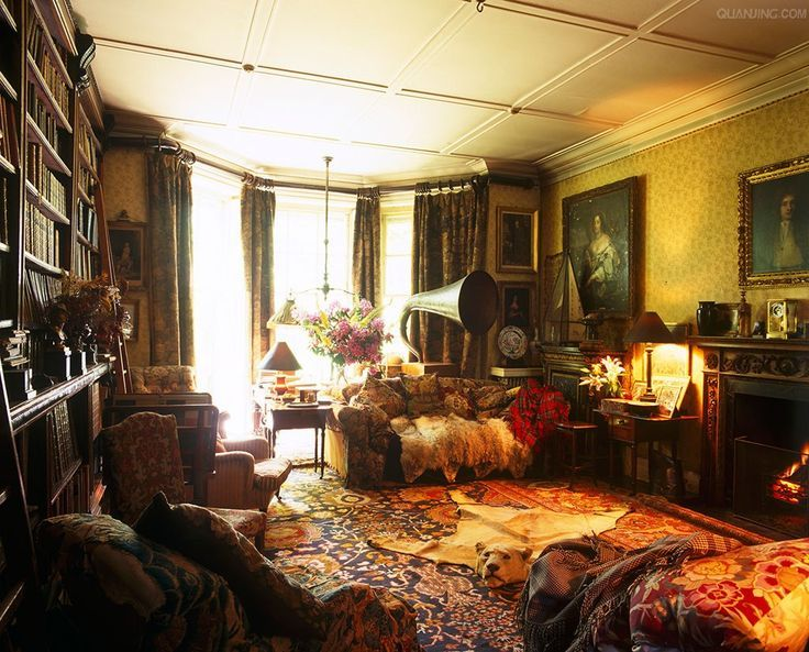 so Edwardian looking ~ library drawing room