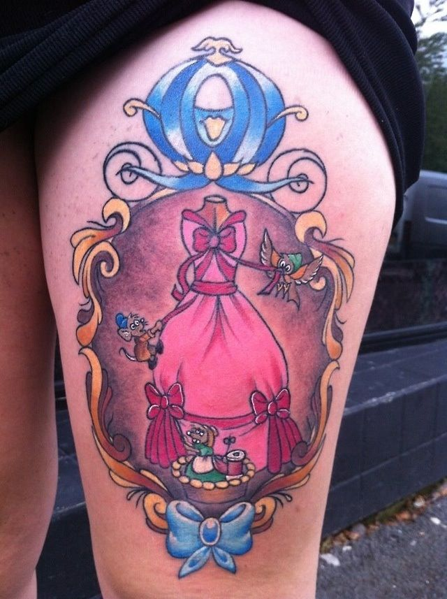 Cinderella tattoo, Disney tattoo