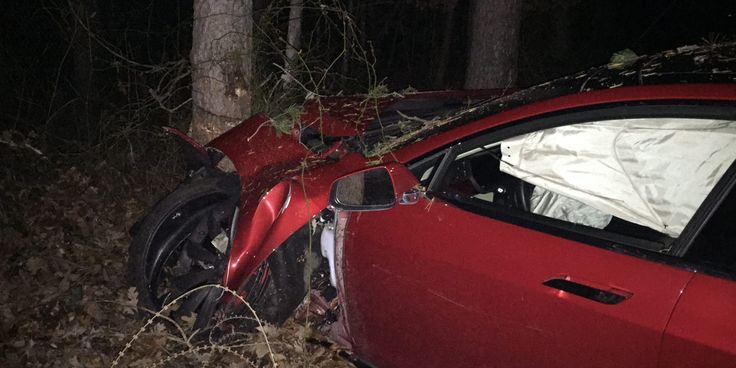 Tesla owner credits Model S safety features and lack of engine for saving his life in high-speed crash #Tesla #Models #car #Automotive #cars #Autos