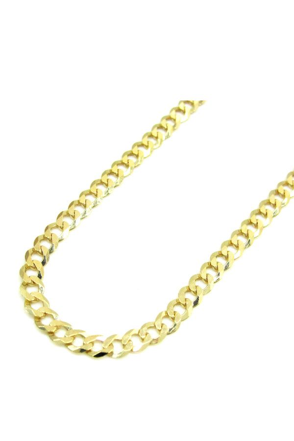 Mens Womens 10K Solid Yellow Gold 4.5MM Cuban Chain Necklace 16