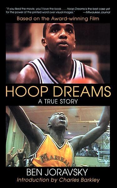 "A biography of Arthur Agee and William Gates, two promising high school basketball players in Chicago whose experiences were captured in the documentary film ""Hoop Dreams.""   796.323 JOR"