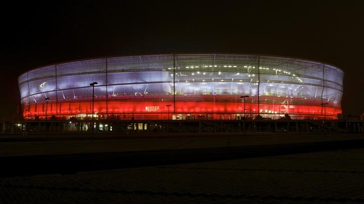 Stadion Wrocław biało-czerwony