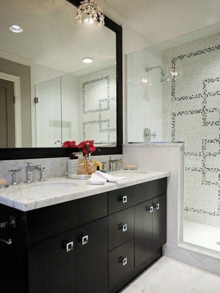 Une salle de bain élégante   Maison & Demeure