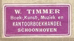 Kantoorboekhandel W. Timmer, Schoonhoven